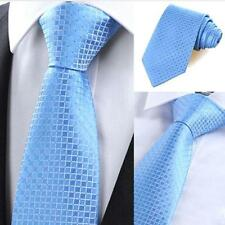 Men's Business Silk Classic Jacquard Woven Plaid Wedding Tie Necktie Casual
