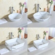 Oval / Square Ceramic Modern Cloakroom Bathroom Basin Sink Bowl Countertop NEW