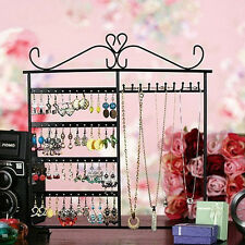 Newest Earrings Ear Studs Necklace Jewelry Display Rack Metal Stand Organizer!!