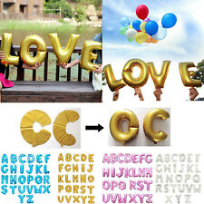 """16"""" Golden/Pink/Blue Foil Letter A-Z Balloons Birthday Wedding Party Decoration"""
