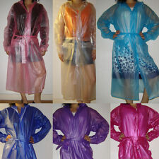 Clearance: Quality Semi- Transparent Plastic PVC Vinyl Raincoat MAC Regenmantel
