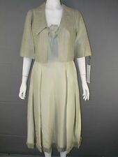 BNWT TOM BOWKER PURE SILK MOTHER OF THE BRIDE DRESS & JACKET SUIT SIZES 10-14