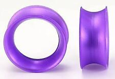 "10g - 1"" Silicone Royal Purple Kaos Softwear Ear Skin - Price Per 1"