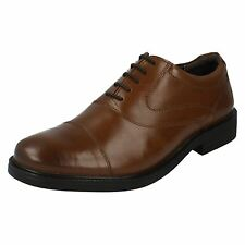 Hush Puppies 'Rockford oxford' Men's Tan Leather Textile Lace Up Oxford Shoes