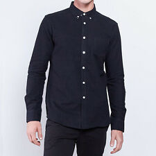 New Weathered Smith Classic Shirt - Black Heavy Oxford