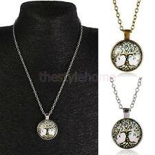 Retro Mens Womens Tree of Life Charm Pendant Chain Necklace Jewelry Gifts