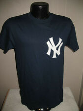 MLB New York Yankees Derek Jeter #2 blue Jersey T-Shirt Men size  Majestic