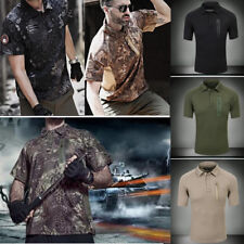 TYPHON Outdoor Mens Tactical T-Shirt Army Military Special Forces Quick Dry Polo