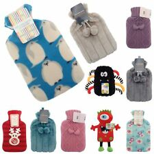 Cosy Soft Hot Water Bottle With Fun Novelty Cover