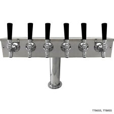 """4"""" Pedestal SS Towers - 6 - 12 Faucets - Glycol Ready - Commercial Draft Beer"""