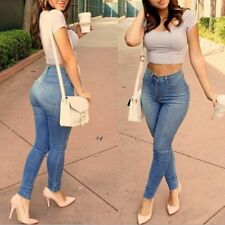 Sexy Women Slim Denim Skinny High Waisted Jeans Stretch Casual Pants Trousers