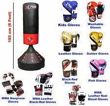 6ft Free Standing Boxing Punch Bag Stand Kick Heavy MMA Martial Art Training Xn8