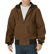 MEN DICKIES TJ745TB SANDED DUCK THERMAL LINED HOODED JACKET