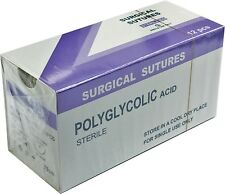 12 PGA Absorbable suture 75cm Round Boided sterile USP 2/0 3/0 4/0 5/0
