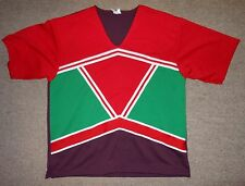 Motionwear Red Grn Maroon CHEER Cheerleading Top Uniform Shirt Adult MENS Medium