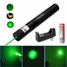 Military 532nm 5mw 303 Green Laser Pointer Lazer Pen Burning Beam 18650 Charger