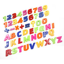 Plastic Magnetic Fridge Magnets Letter Alphabet & Numbers Set 26/52 Pieces VB