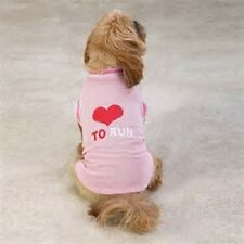 PINK Love to Run Dog Jersey Tee Shirt Casual Canine Choose Your Size Ships FREE
