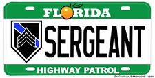 Florida Highway Patrol Novelty License Plates Ranks & Titles