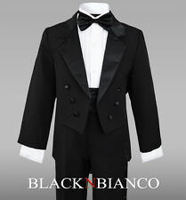 Black Tuxedo with Tail for Boys Teens Toddlers  2 3 4 5 6 7 8 10 12 14 16 18 20