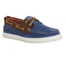 Mens Ask the Missus Dock Boat Shoes NAVY SUEDE TAN LEATHER Casual Shoes