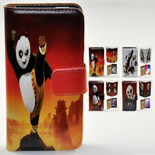 For Galaxy S6 edge+ S5 S7 S6 S7 edge Kung Fu Panda Print Wallet Phone Case Cover