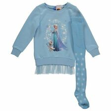 Disney Frozen Elsa Dress Set 110 116 122 128 Long jumper Tights NEW