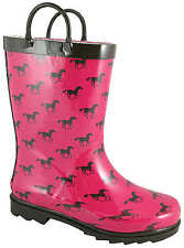 NEW! Smoky Mountain Boots - CHILD'S - Western Rubber Rain Boots - Ponies Pink
