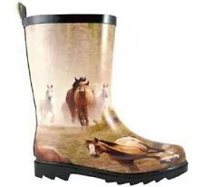 NEW! Smoky Mountain Boots - CHILD'S - Western Running Horse Rubber Rain Boots
