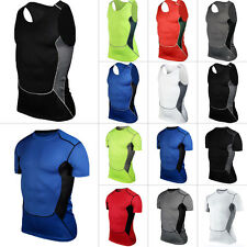 Men's Under Compression Base Layer Tights Armour Top Vest Thermal Skins T-Shirt