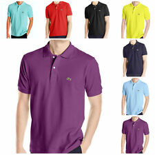 LACOSTE MEN'S SHORT SLEEVE CLASSIC COLLAR ORIGINAL FIT POLO SHIRT WITH LOGO