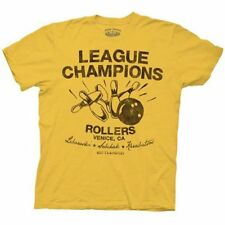Adult Mens Movie Big Lebowski League Champions Rollers Bowling T-shirt Tee