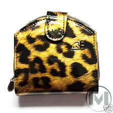 LADIES WOMEN GENUINE IMPERIAL HORSE PATENT FAUX LEATHER PURSE WALLET GOLD