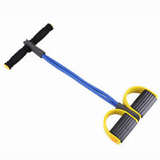 Body Trimmer Expander Bodybuilding Pedal Arm Tummy Stretching Pull up Rope Blue
