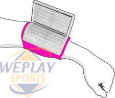 Cutters Adult Pink Triple Playmaker Football Wrist Coach 197