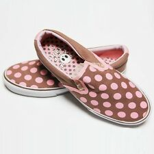 Slip on gothique, rock, emo DRAVEN POLKAHOLIC Brown pink