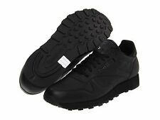 REEBOK CLASSIC LEATHER BLACK LIFESTYLE  MENS SHOES **FREE POST AUSTRALIA