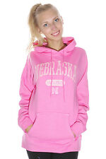 University of Nebraska Cornhuskers Hoodie Sweatshirt | Pink | Size XL