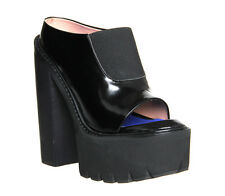 Womens Jeffrey Campbell Mori Platform BLACK BOX LEATHER Boots