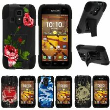 For Kyocera Hydro Icon| Hybrid Hard Bumper Stand Case Affectionate Flowers