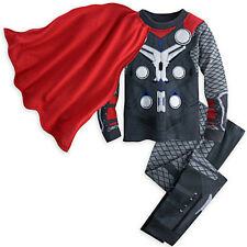 NWT Disney Store Cape Thor Costume PJ Pal Marvel's Avengers Age of Ultron