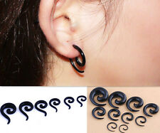 Taper Stretching Spiral Expander Snail Tunnel Acrylic Ear Stretcher Plug
