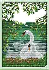 Kit broderie point de croix imprimé/compté,11CT/14CT,Cross Stitch Swan/Cygnes