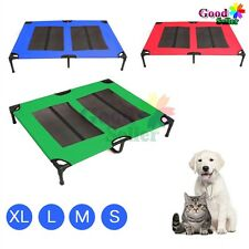 Heavy Duty Pet Dog Bed Trampoline Hammock Bed Foldable Frame Puppy Cat Cover AU