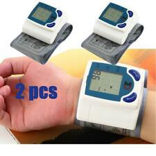 2X Digital LCD Wrist Blood Pressure Monitor With Heart Beat Rate Pulse Measure G