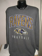 NFL Baltimore Ravens Football Long Sleeve Thermal Style Shirt Mens Majestic Nwt