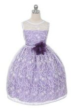 FLOWER Girl's Elegant Flower Girl Party Holiday Dress  ALL OCCASION LACEKD307