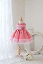 Baby Flower Girls Two Tone Dress Easter Party pageants Christmas Dress NKCB812