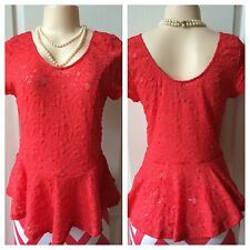 WOMENS PLUS TOP 2X 1X NEW LACE ORANGE CORAL GREEN 18 16 14 XL CUTE SUMMER DEAL