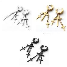 Punk Fashion Vintage Style Fashion Dangle Ear Stud Earrings Silver Gold Black